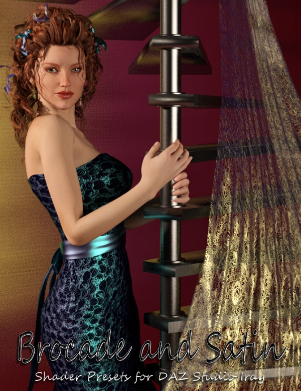 DG Brocade and Satin Shaders Iray by: IDG DesignsDestinysGarden, 3D Models by Daz 3D