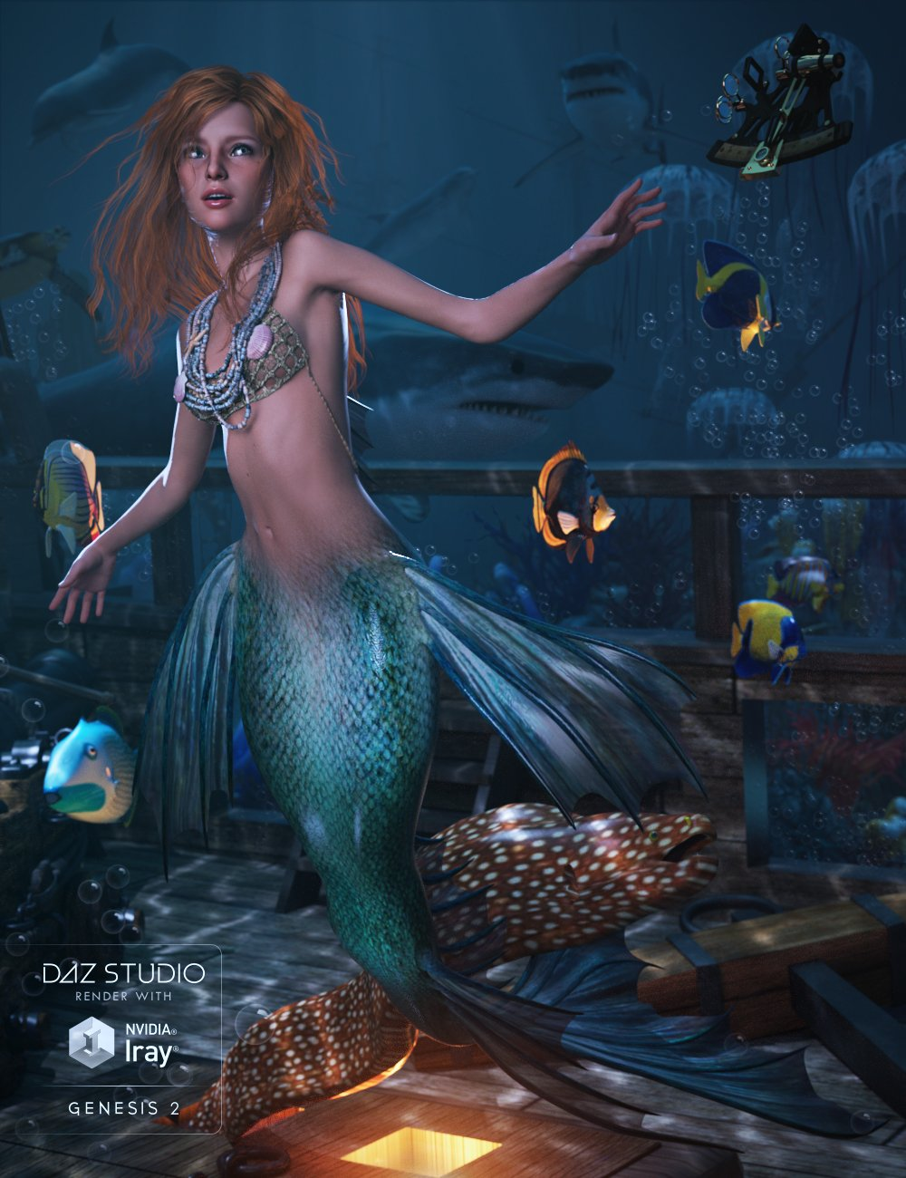 Lorelei Mertail for Genesis 2 Female(s) by: Madashaunahowell, 3D Models by Daz 3D