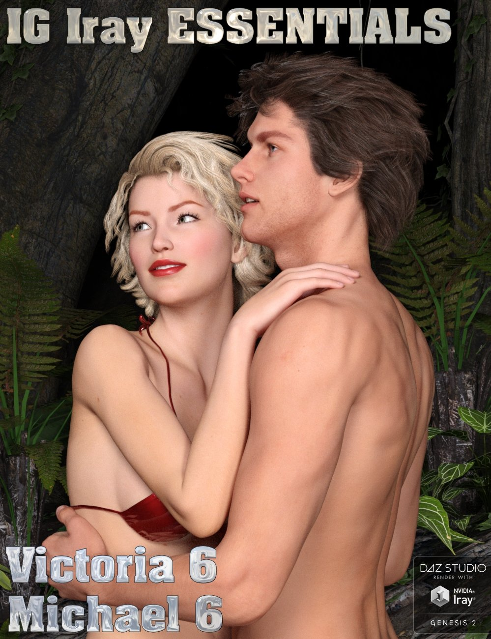IG Iray Essentials - Victoria 6 & Michael 6 by: IDG DesignsInaneGlory, 3D Models by Daz 3D
