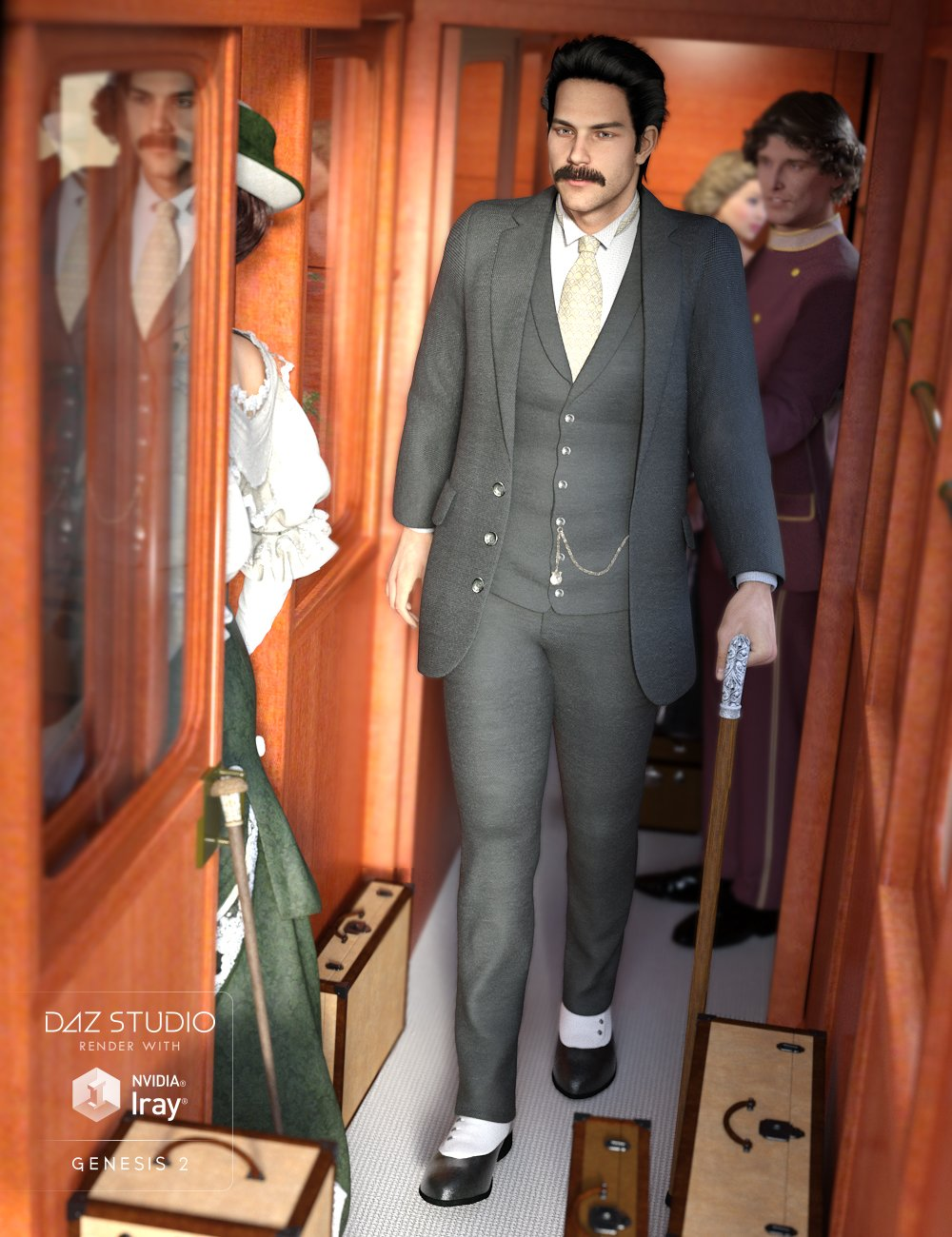 Grantham Hall Suit by: MadaSarsa, 3D Models by Daz 3D