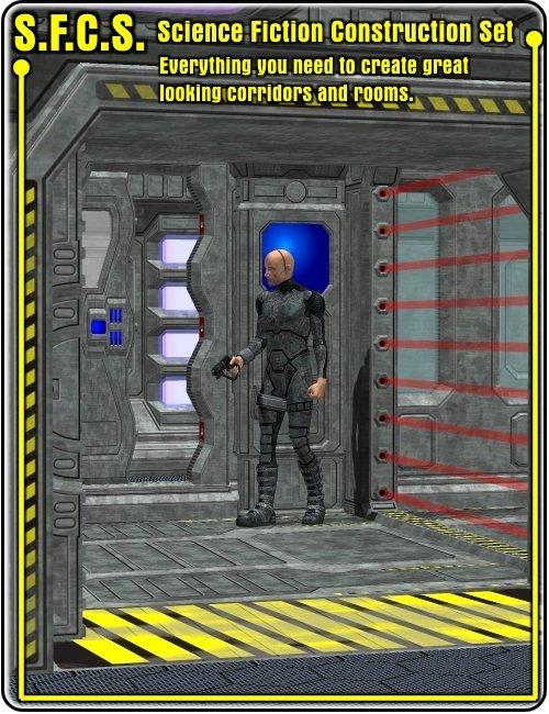 S.F.C.S Sci-fi Construction Set by: , 3D Models by Daz 3D