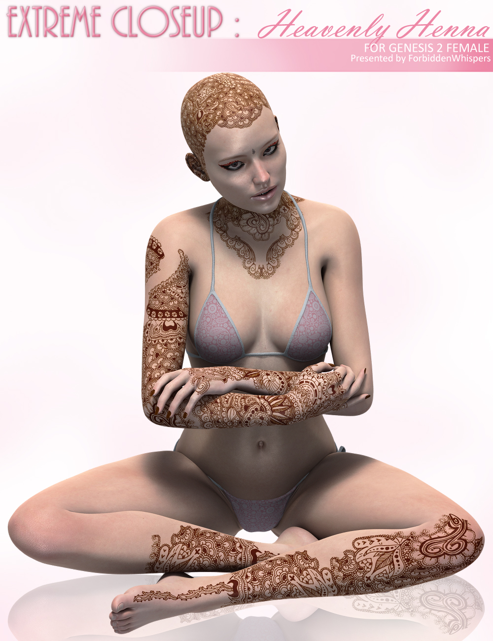 Extreme Closeup: Heavenly Henna for Genesis 2 Female(s) by: ForbiddenWhispers, 3D Models by Daz 3D