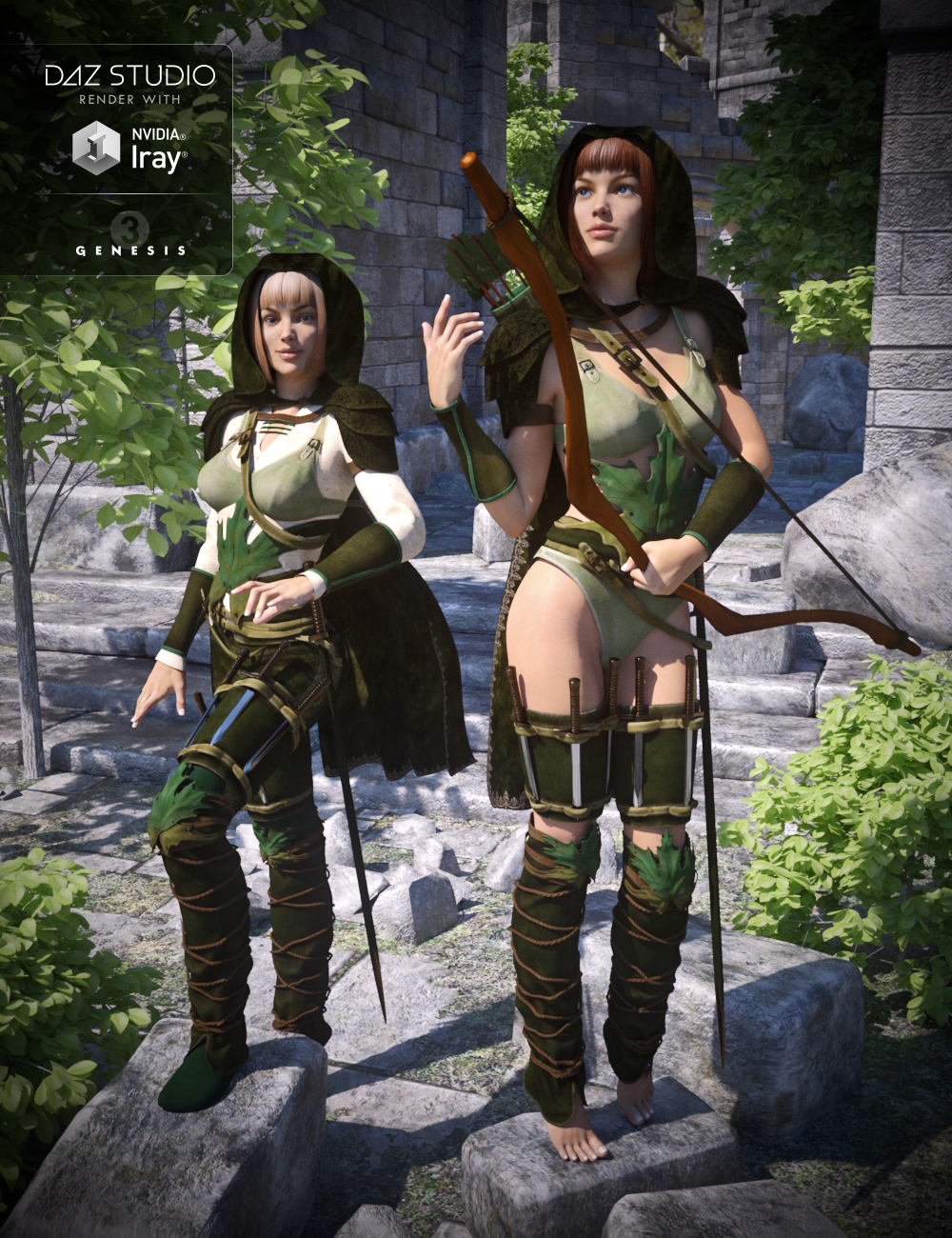 Fantasy Ranger for Genesis 3 Female(s) by: Arien, 3D Models by Daz 3D