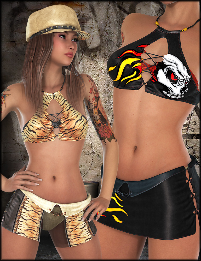 Heat Up Outfit Textures by: Shox-Design, 3D Models by Daz 3D