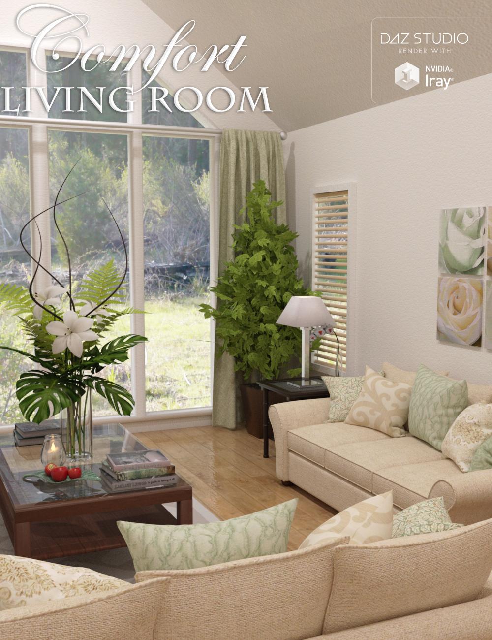 Comfort Living Room by: Nikisatez, 3D Models by Daz 3D