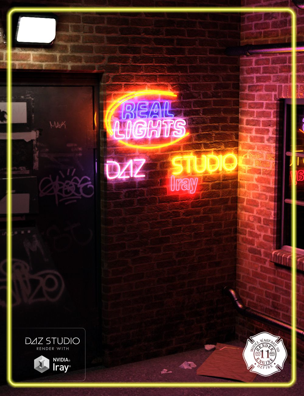 Real Lights for DAZ Studio Iray by: DzFire, 3D Models by Daz 3D