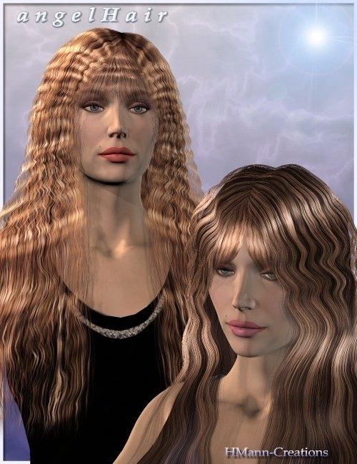 Angel Hair by: Magix 101, 3D Models by Daz 3D