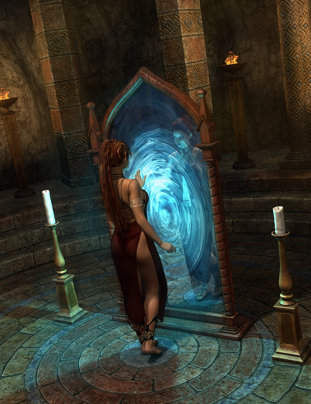 DM's Cave of Secrets by: Daniemarforno, 3D Models by Daz 3D