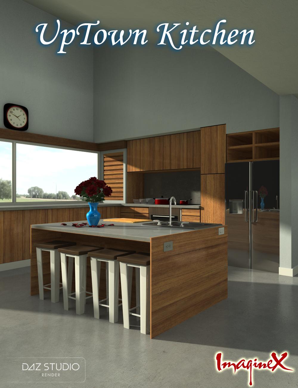 Up Town Kitchen by: ImagineX, 3D Models by Daz 3D