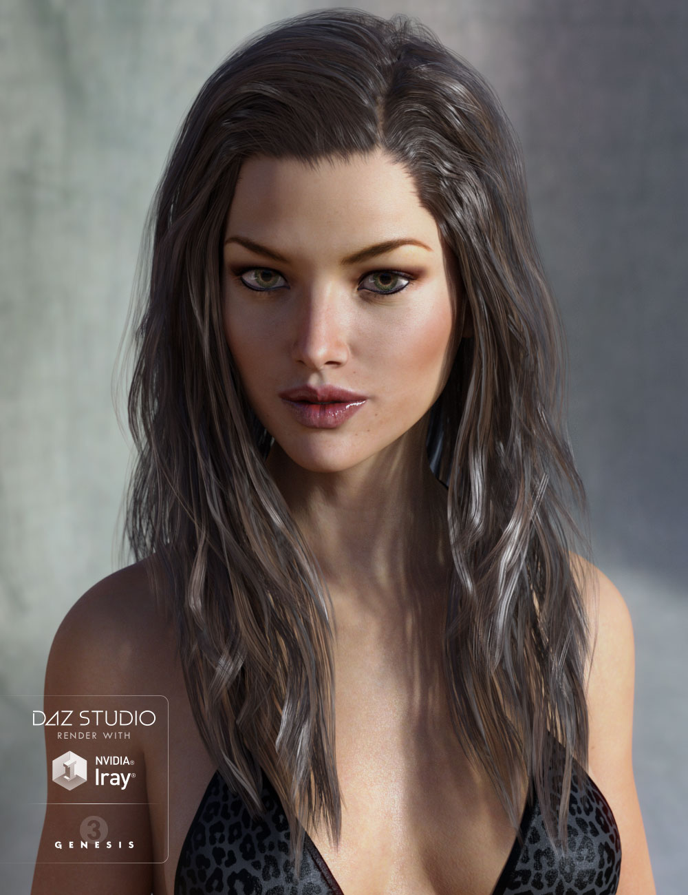 Leyton Hair for Genesis 3 Female(s) and Genesis 2 Female(s) by: AprilYSH, 3D Models by Daz 3D