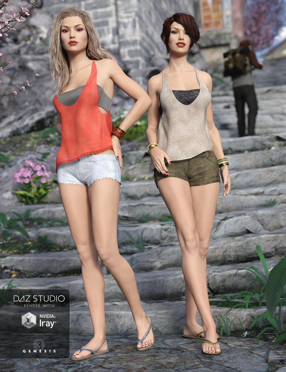 Casual Summer Textures by: esha, 3D Models by Daz 3D