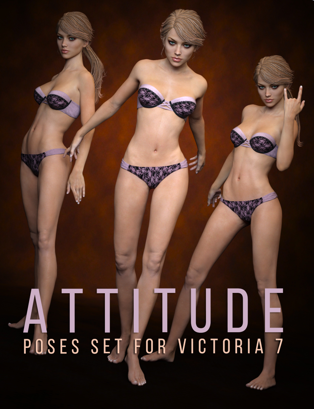 Victoria 7 Attitude Poses by: Cake One, 3D Models by Daz 3D