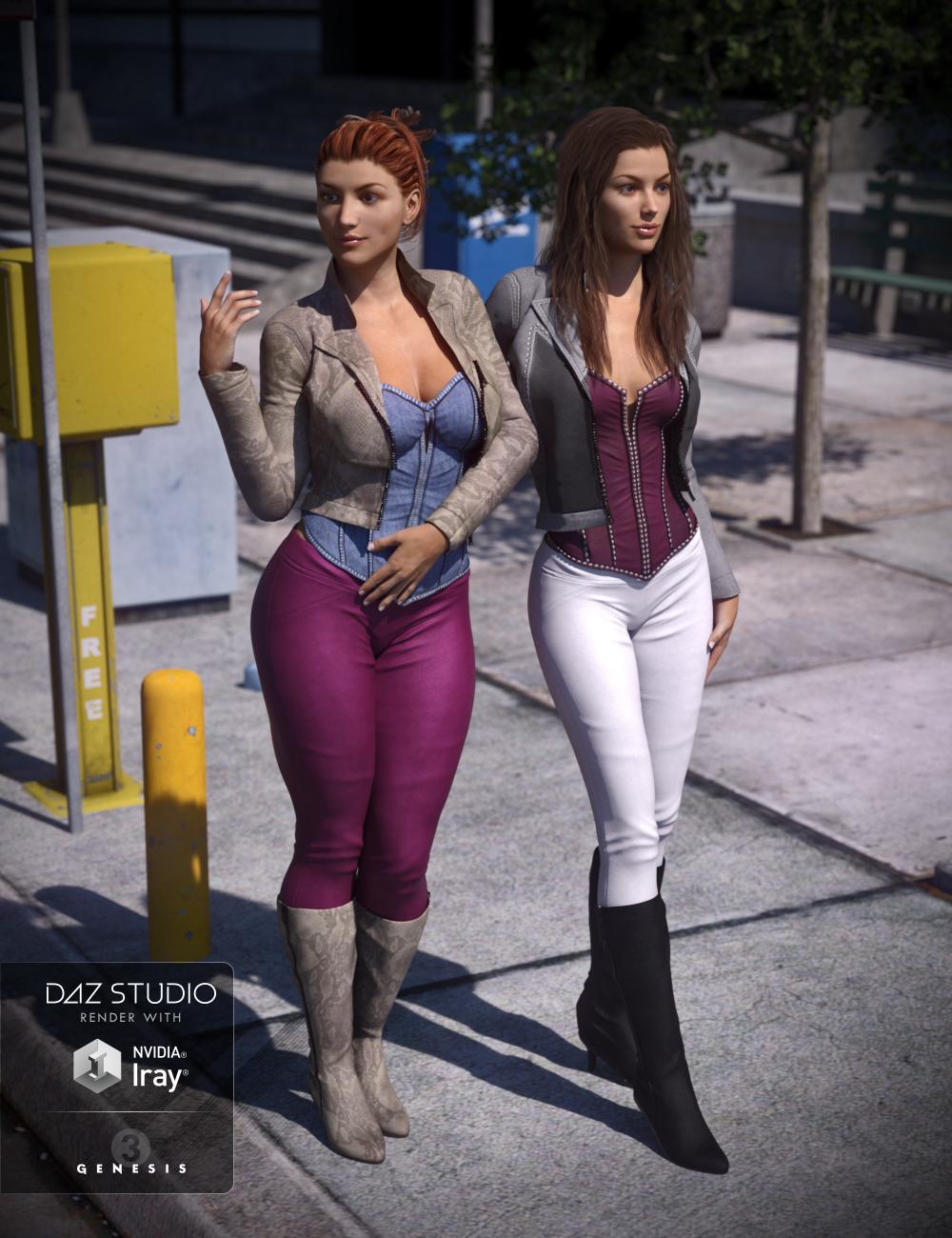 Vigilante Outfit Textures by: Shox-Design, 3D Models by Daz 3D