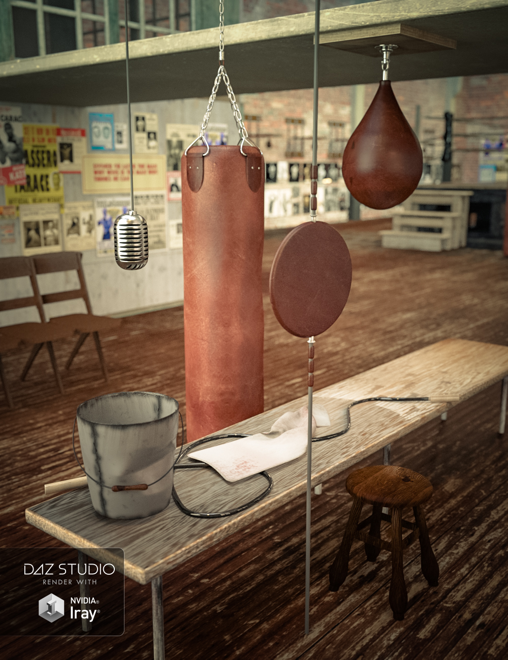 Vintage Boxing Accessories by: ironman13Didier, 3D Models by Daz 3D