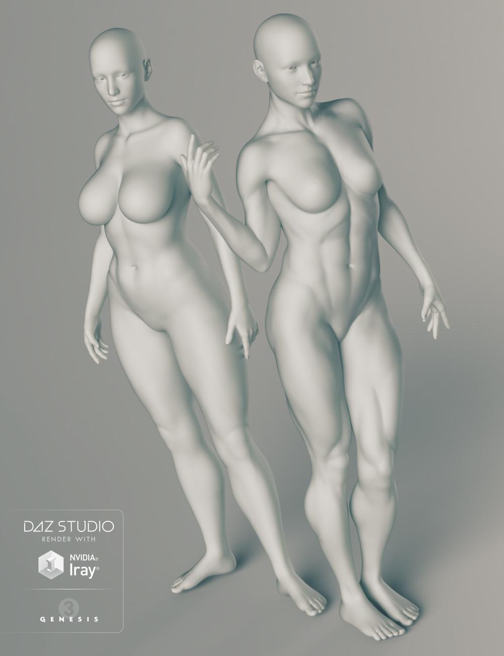 Genesis 3 Female Body Morphs by: , 3D Models by Daz 3D