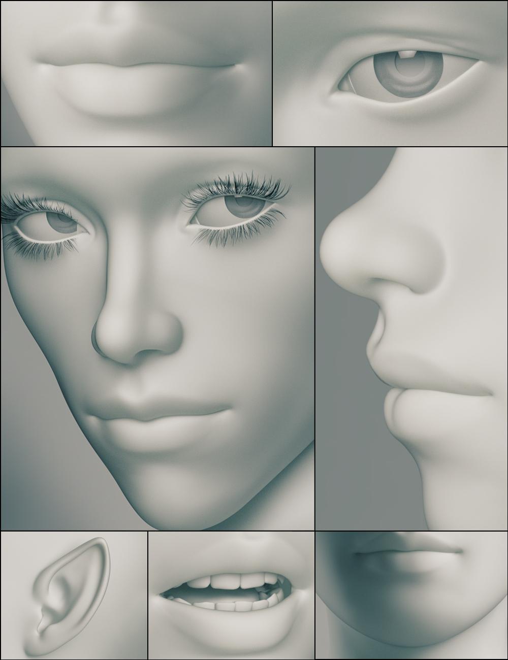 Genesis 3 Female Head Morphs by: , 3D Models by Daz 3D