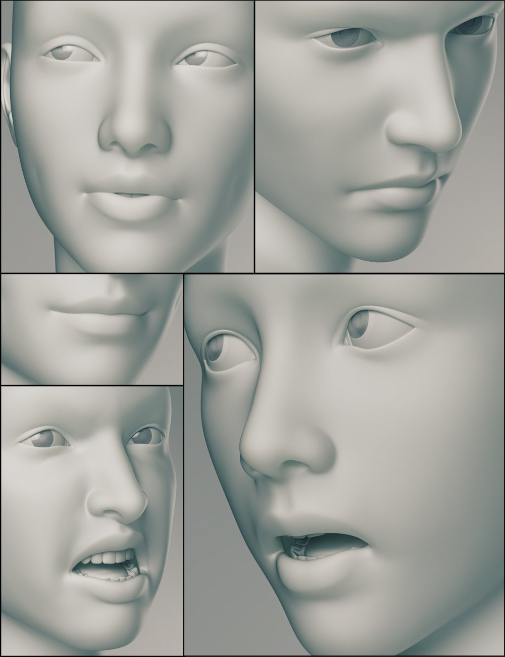 Genesis 3 Female Expressions by: , 3D Models by Daz 3D