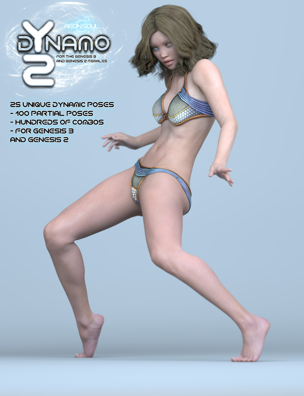 dYnamo 2 Poses for Genesis 3 and 2 Female(s) by: Aeon Soul, 3D Models by Daz 3D