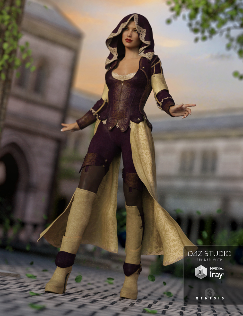 Austrani Outfit for Genesis 3 Female(s) by: Anna BenjaminBarbara Brundon, 3D Models by Daz 3D