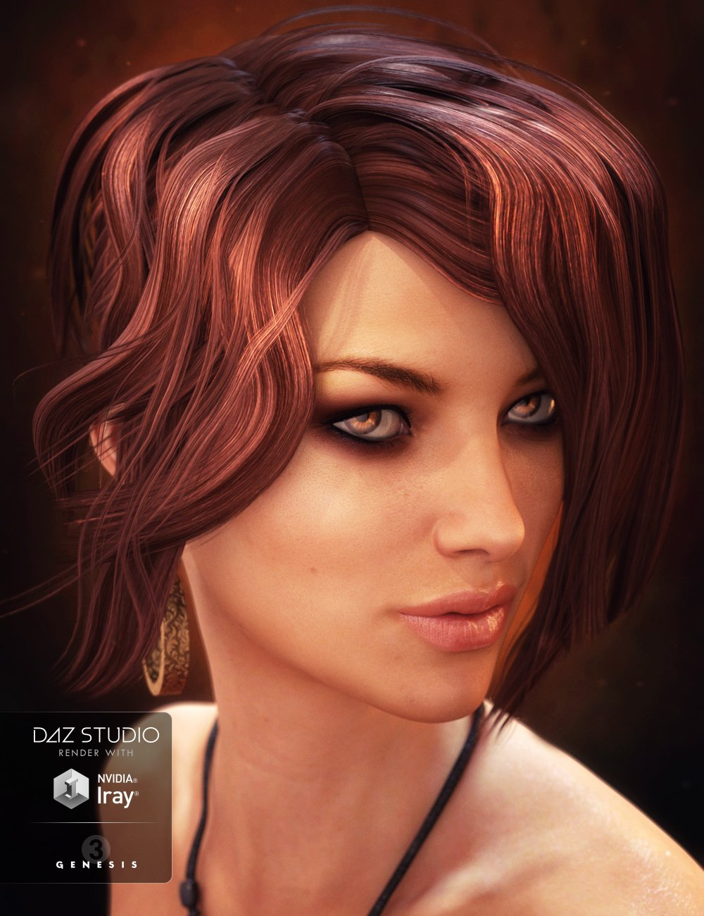 Flashy Hair for Genesis 3 Female(s) by: Propschick, 3D Models by Daz 3D
