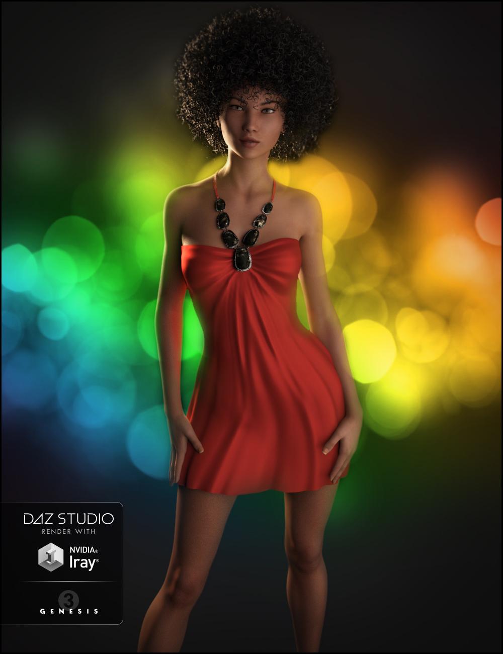 Belleza Dress for Genesis 3 Female(s) by: JessaiiDemonicaEvilius, 3D Models by Daz 3D