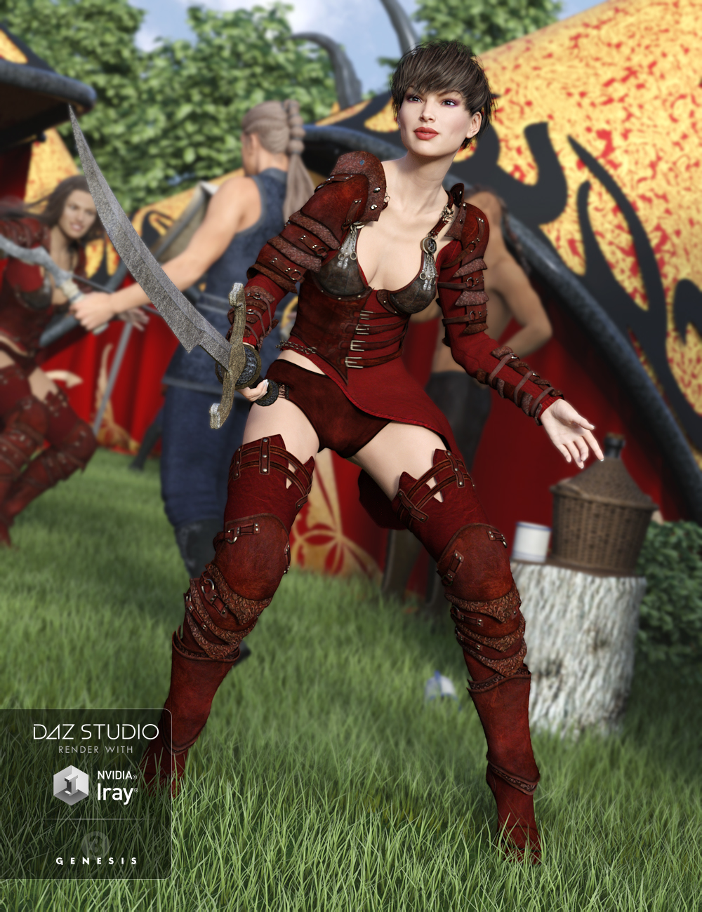 Red Talon for Genesis 3 Female(s) and Genesis 2 Female(s) by: Barbara BrundonSarsa, 3D Models by Daz 3D