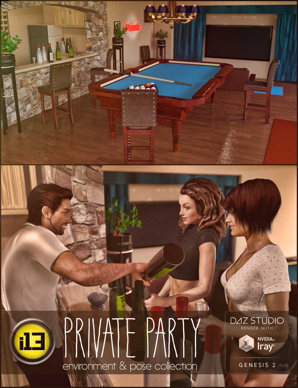 i13 Private Party by: ironman13, 3D Models by Daz 3D