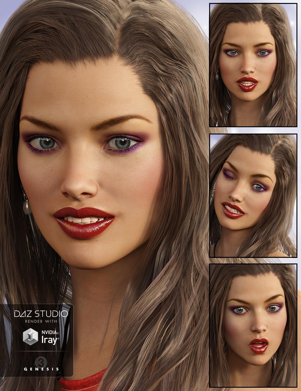 Feel It! Mix and Match Expressions for Victoria 7 by: EmmaAndJordi, 3D Models by Daz 3D