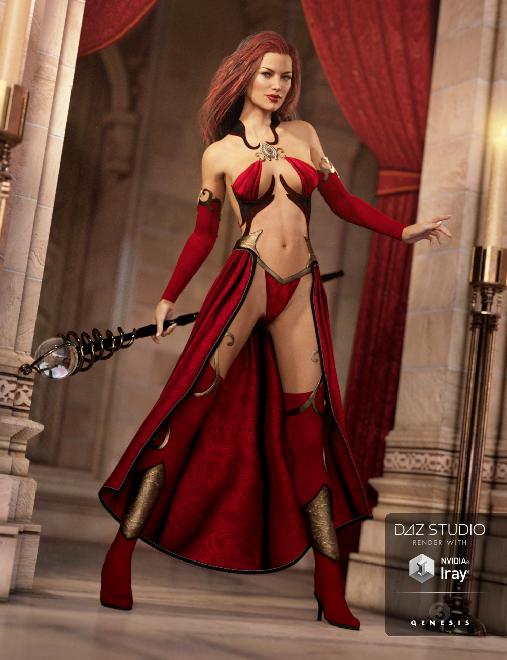 Sexy Sorceress for Genesis 3 Female(s) by: NikisatezSarsa, 3D Models by Daz 3D