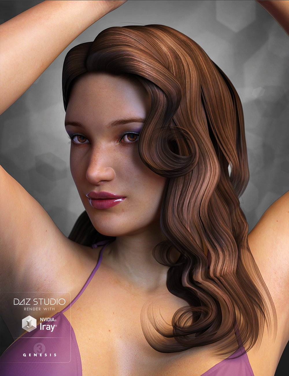 Casino Hair for Genesis 3 Female(s) by: Propschick, 3D Models by Daz 3D