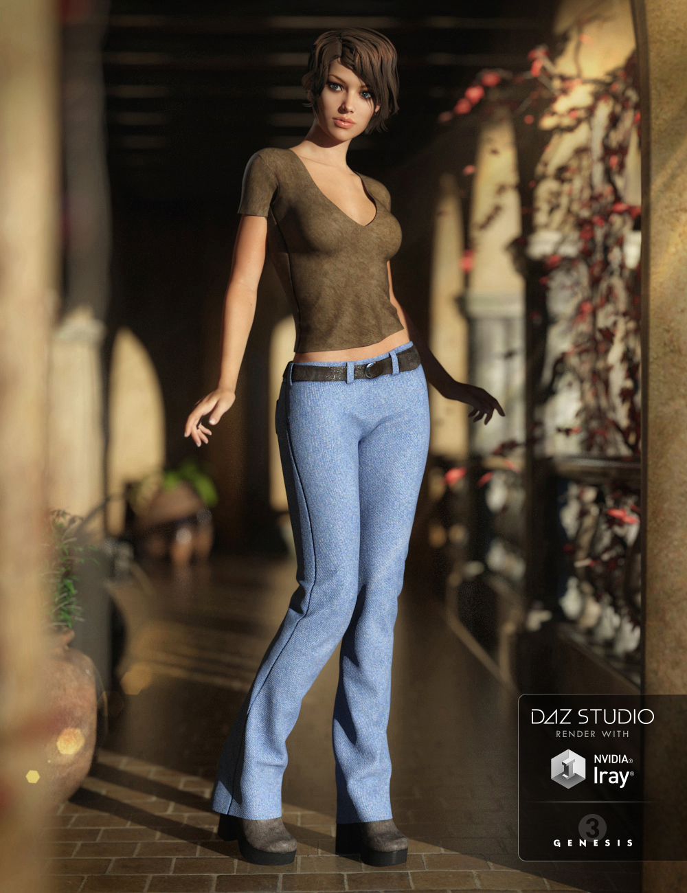 Street Casual Outfit for Genesis 3 Female(s) by: bucketload3dNikisatez, 3D Models by Daz 3D
