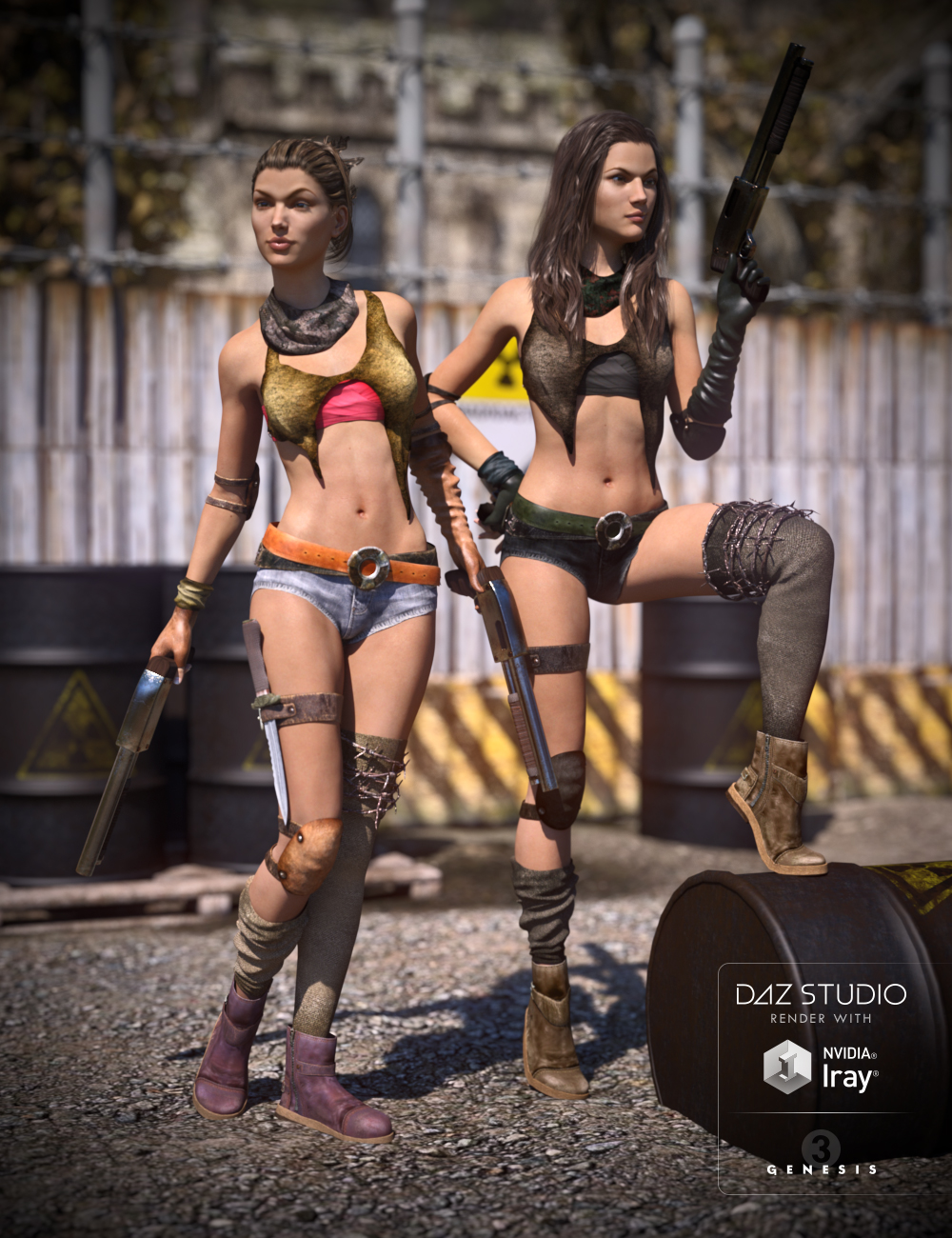 Post Apocalyptic Outfit Textures by: DarkStarBurning, 3D Models by Daz 3D