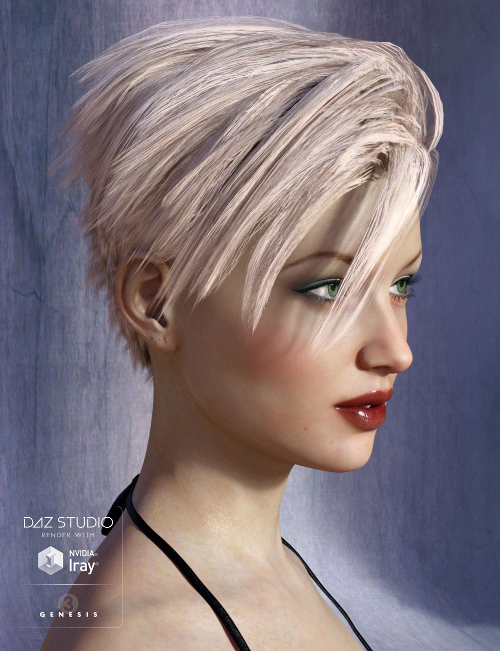 Chace Hair for Genesis 3 Female(s) and Genesis 2 Female(s) by: AprilYSH, 3D Models by Daz 3D