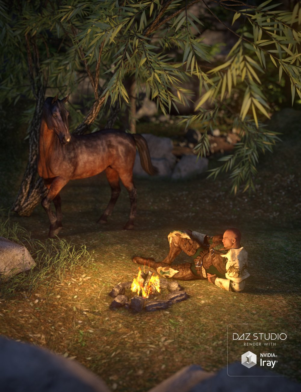 Around the Campfire by: , 3D Models by Daz 3D
