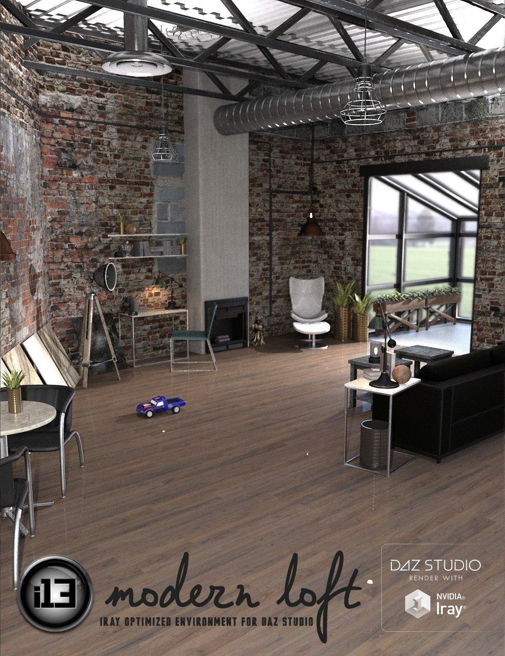 i13 Modern Loft by: ironman13, 3D Models by Daz 3D