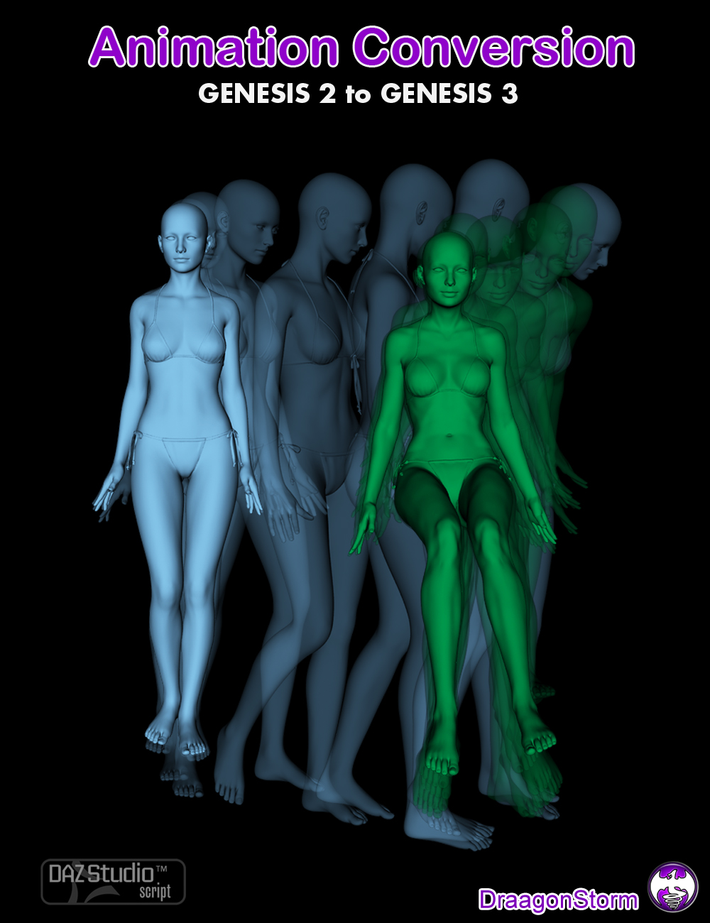 Animation Conversion Genesis 2 to Genesis 3 by: DraagonStorm, 3D Models by Daz 3D