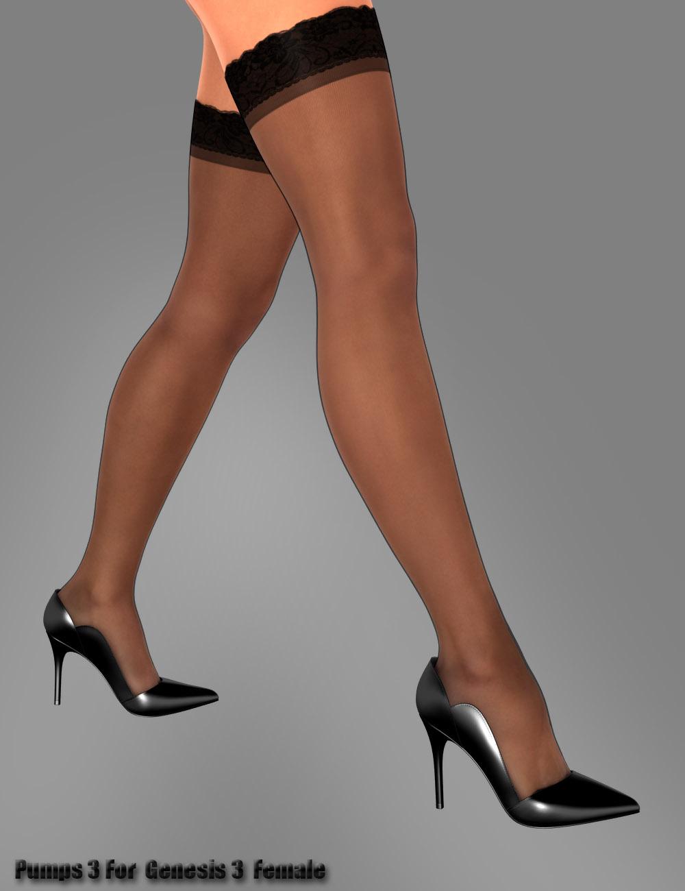 Pumps 3 for Genesis 3 Female(s) by: dx30, 3D Models by Daz 3D