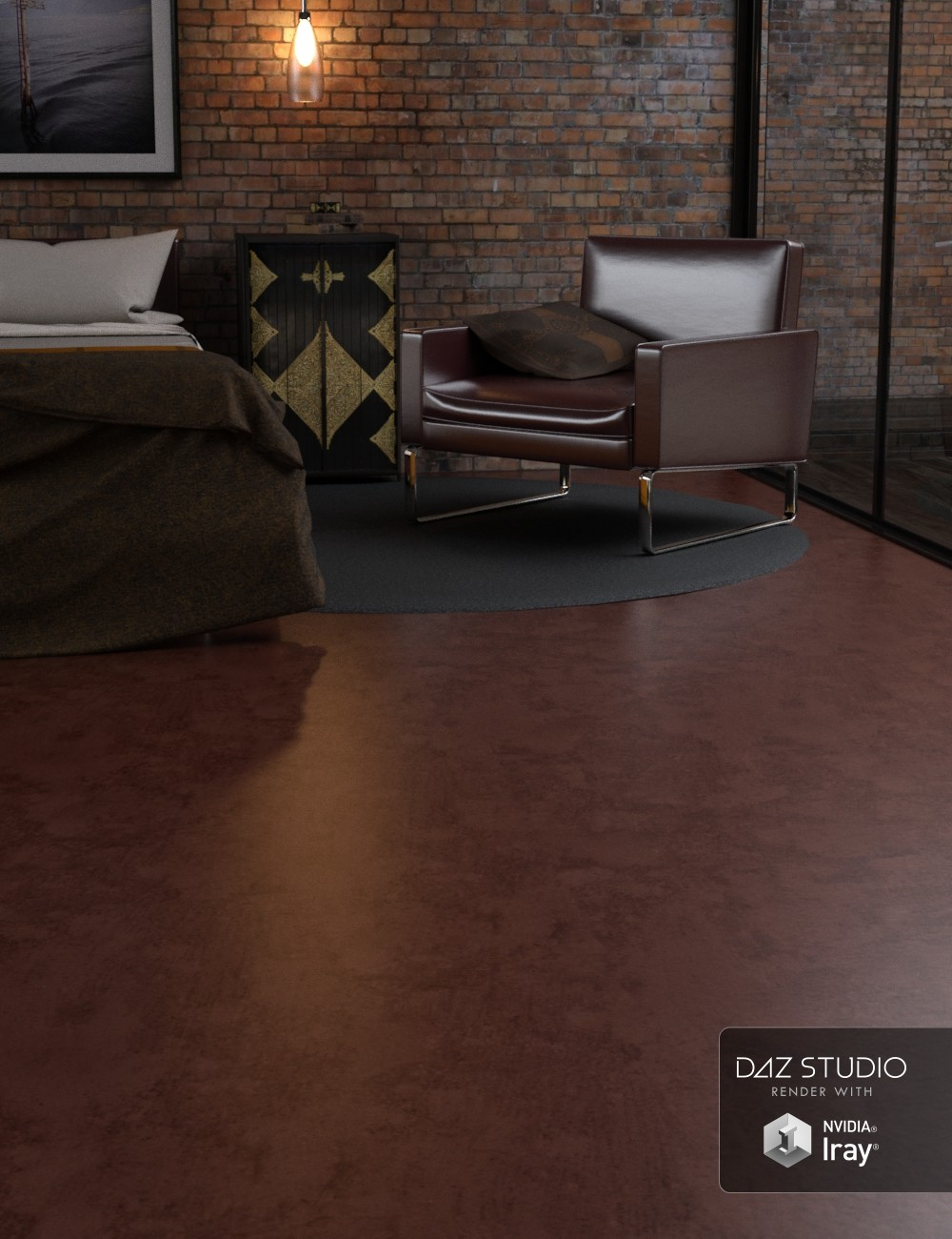Modern Industrial Floors for Iray by: Khory, 3D Models by Daz 3D