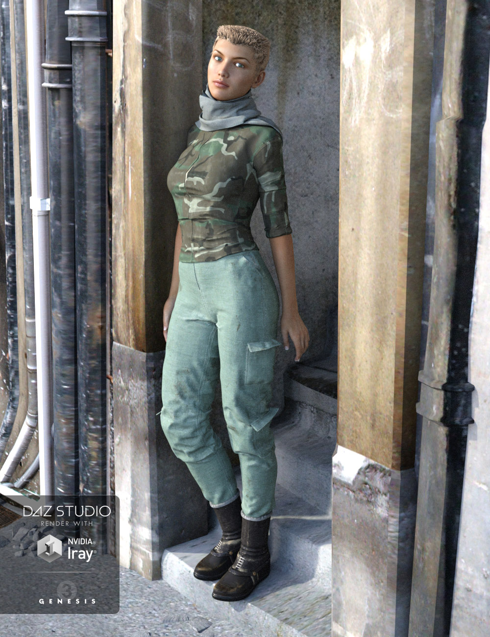 Apocalyptica for Genesis 3 Female(s) by: Oskarsson, 3D Models by Daz 3D