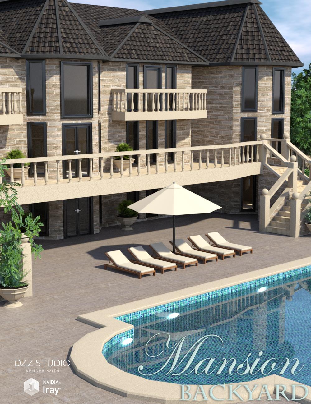 Mansion Backyard by: Nikisatez, 3D Models by Daz 3D