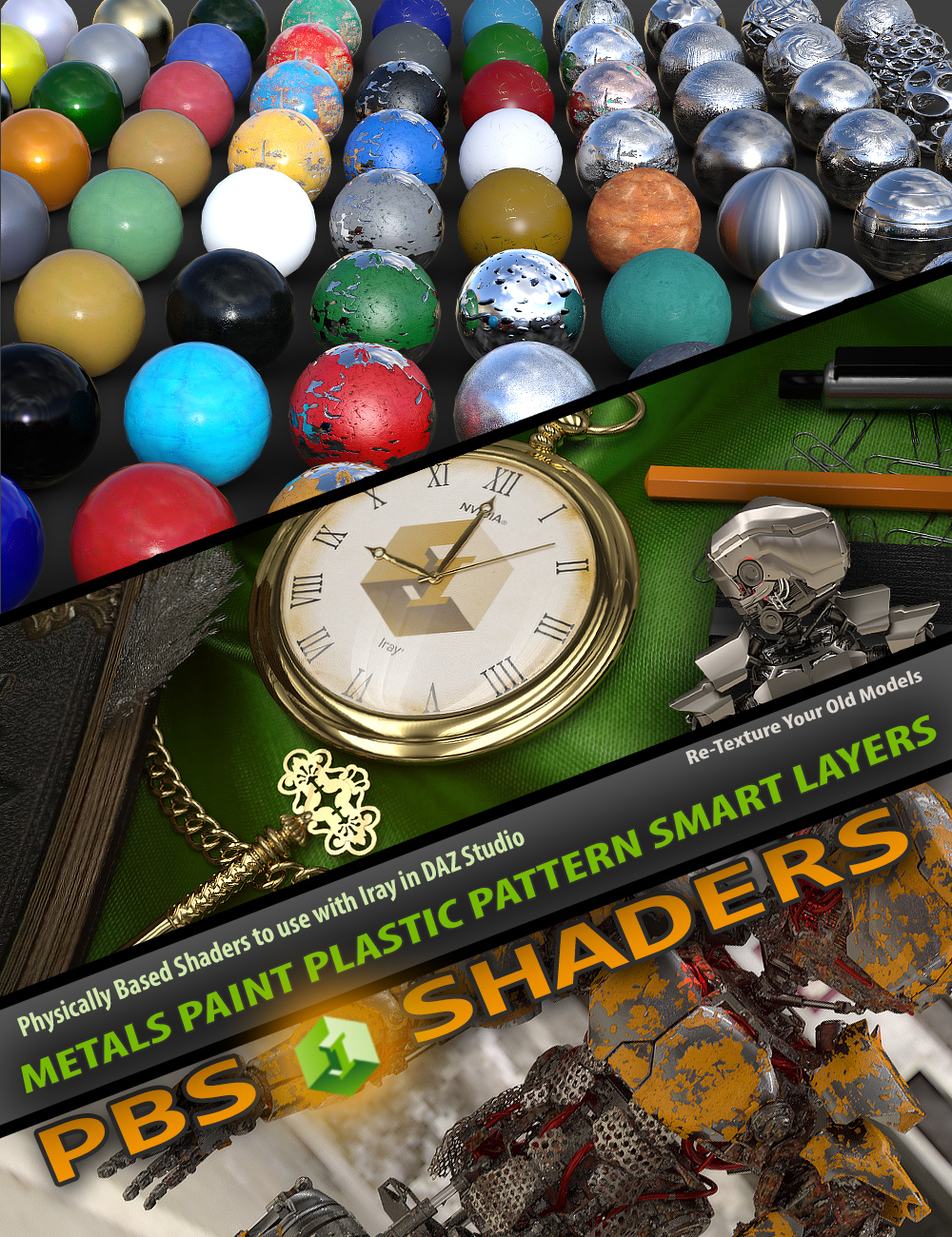 Mec4d PBS Shaders vol.1 for Iray by: Mec4D, 3D Models by Daz 3D