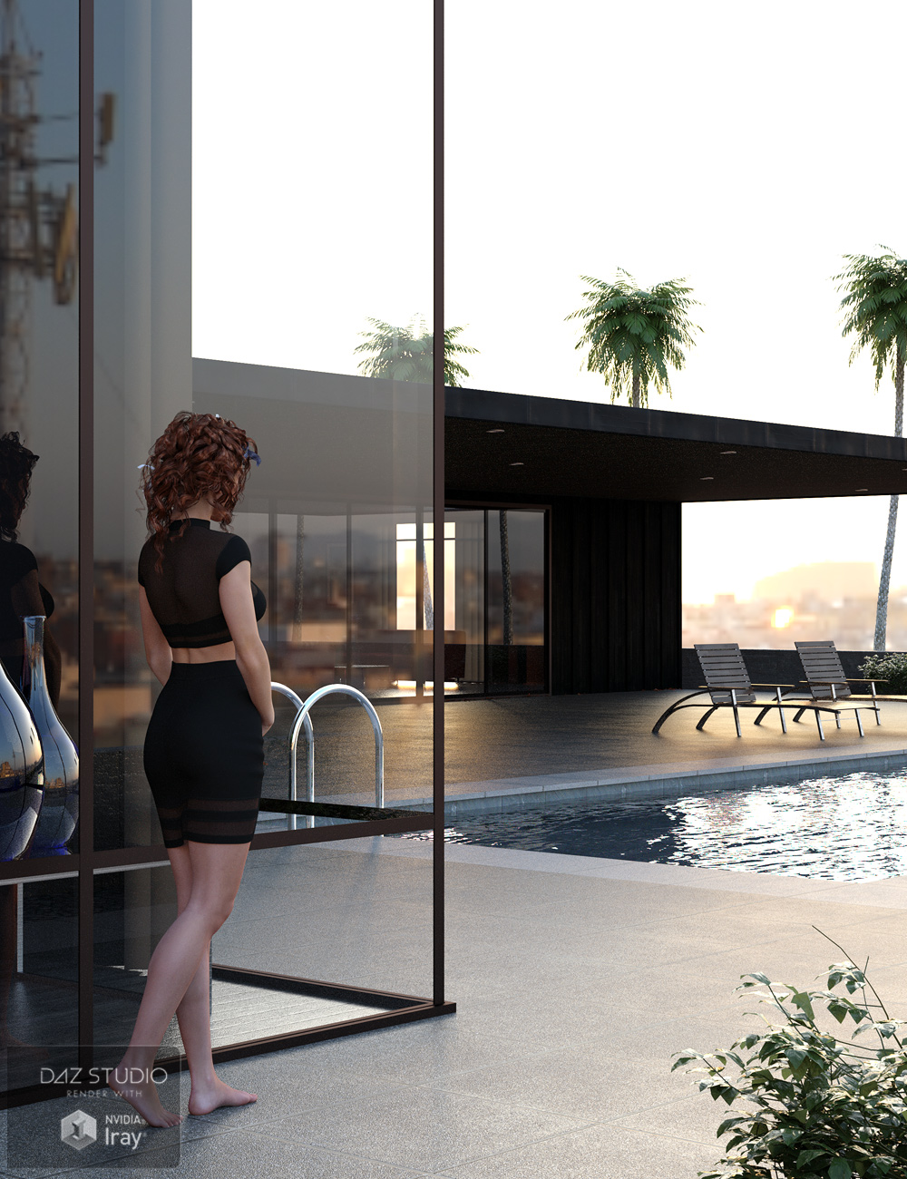 The Pool House by: Stonemason, 3D Models by Daz 3D