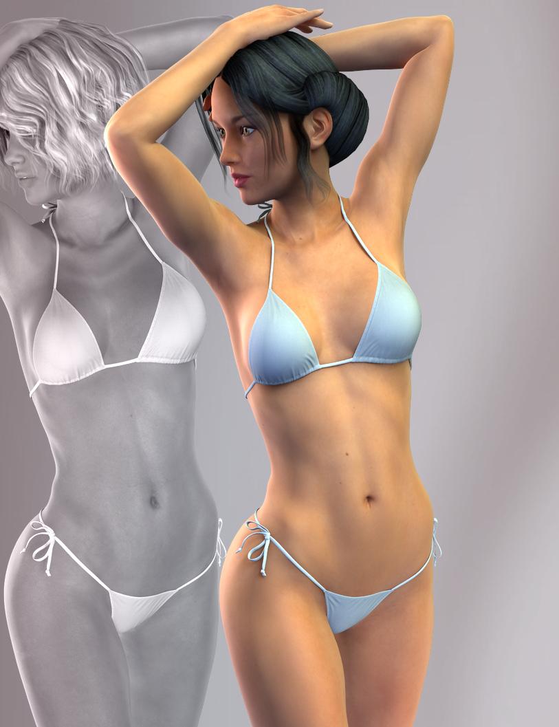 Hongyu's Bikini for Victoria 7 by: hongyu, 3D Models by Daz 3D