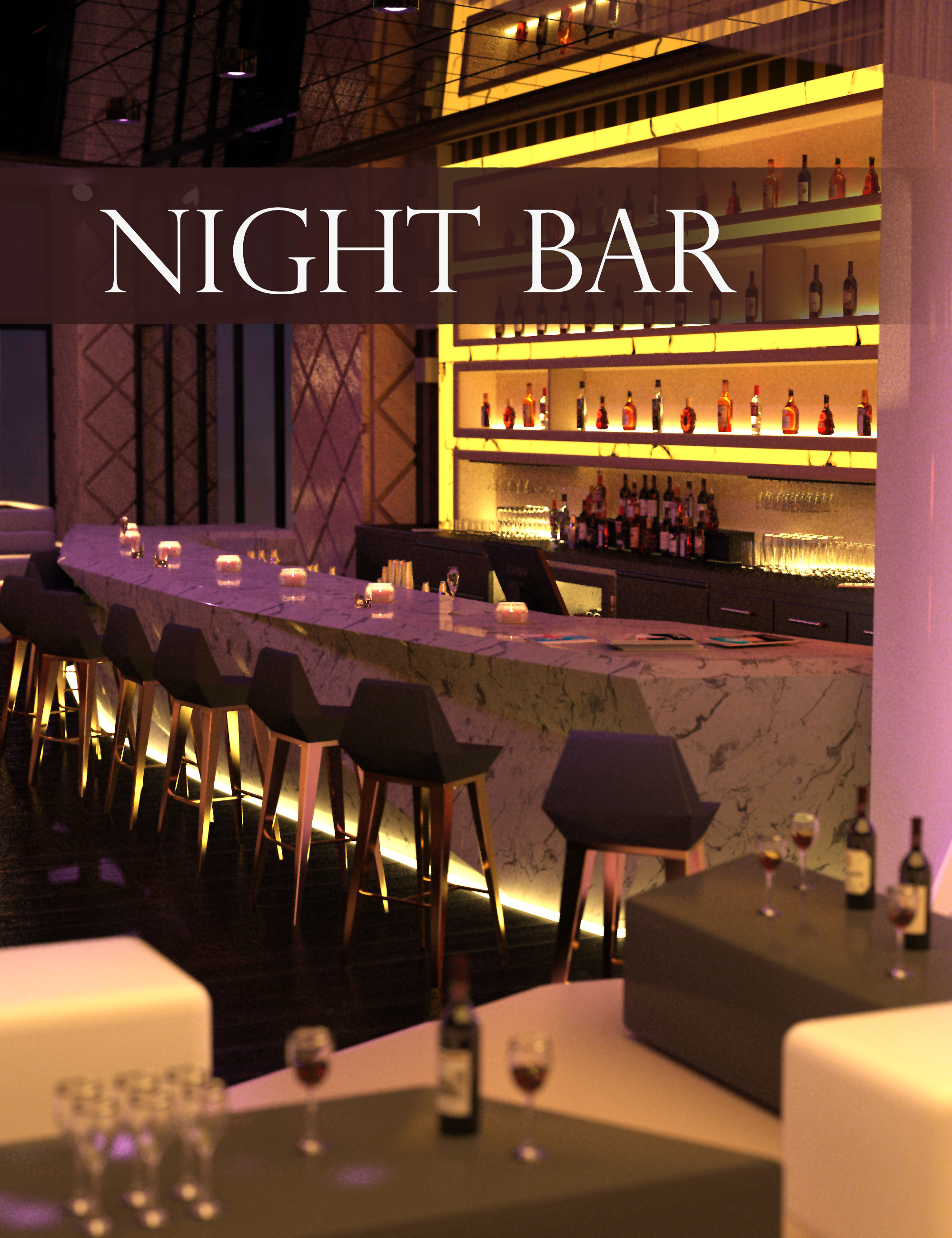 Night Bar by: Polish, 3D Models by Daz 3D