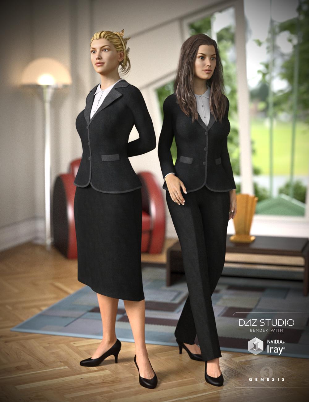 Business Suit for Genesis 3 Female(s) by: OziChickRavenhair, 3D Models by Daz 3D