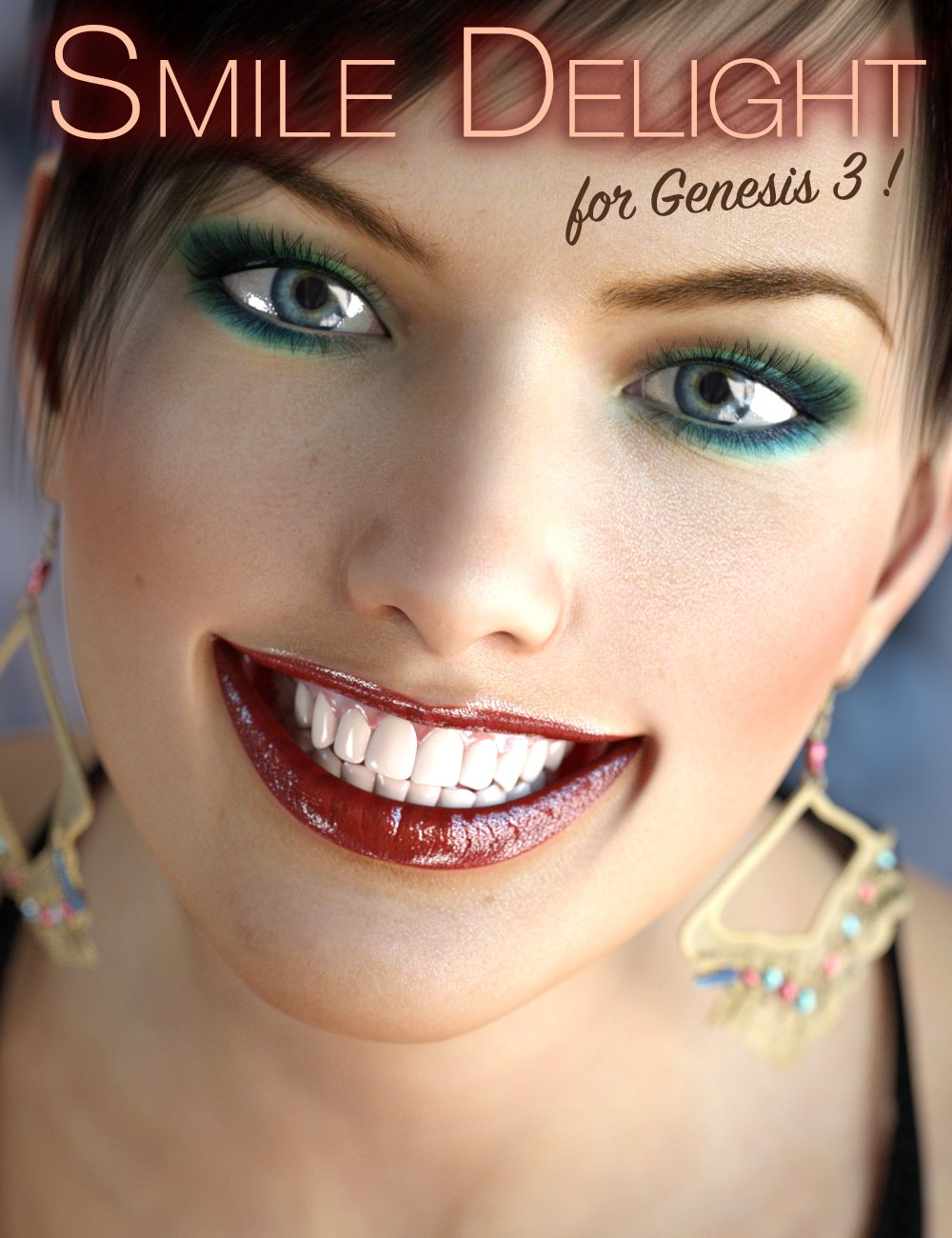 Smile Delight for Genesis 3 Female(s) by: Cake One, 3D Models by Daz 3D