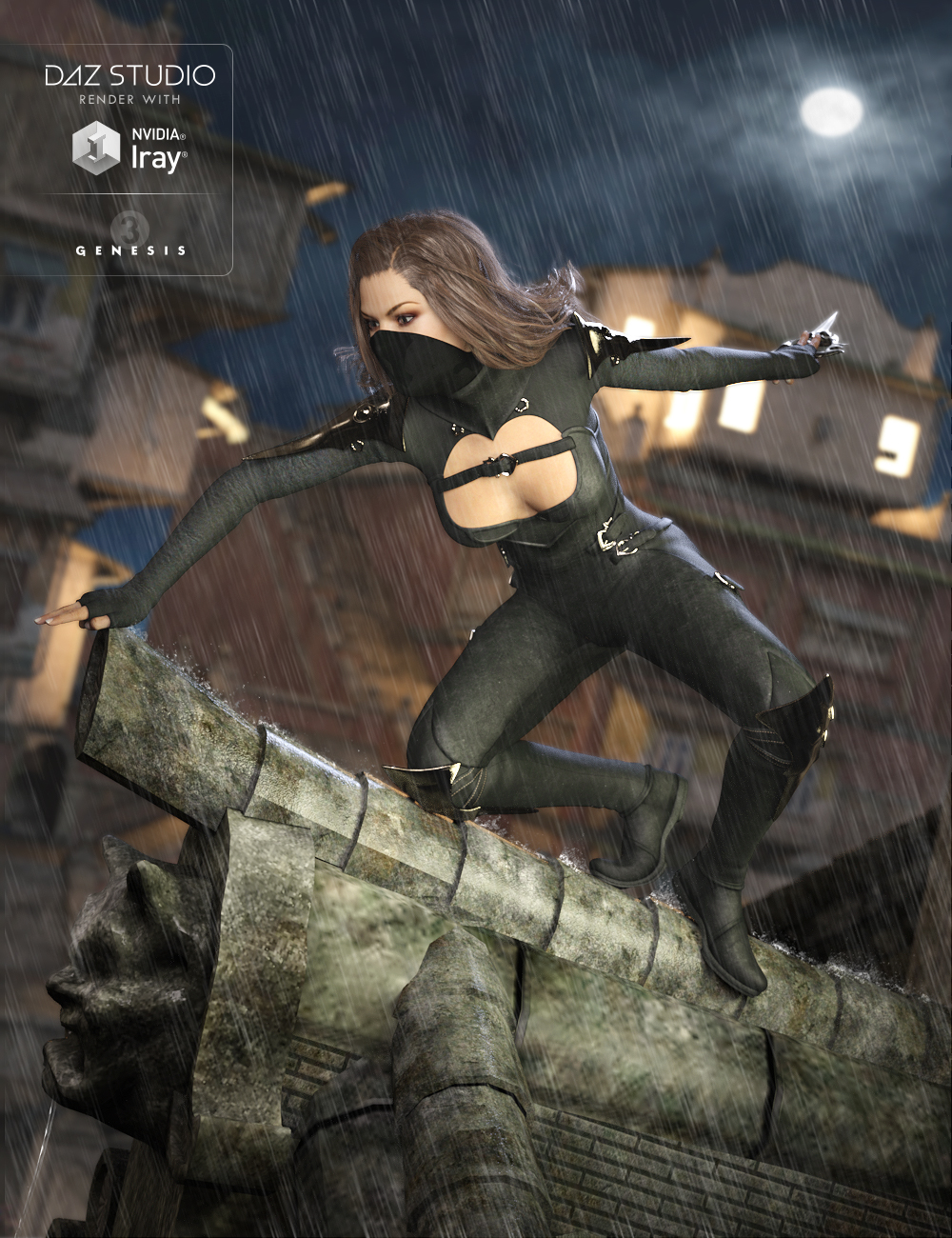 Shadow Outfit for Genesis 3 Female(s) by: MadaSarsa, 3D Models by Daz 3D