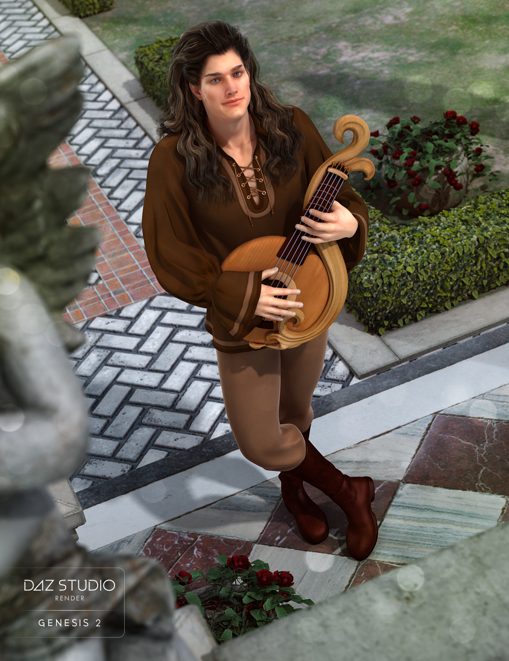 Troubadour for Genesis 2 Male(s) by: MadaShanasSoulmate, 3D Models by Daz 3D