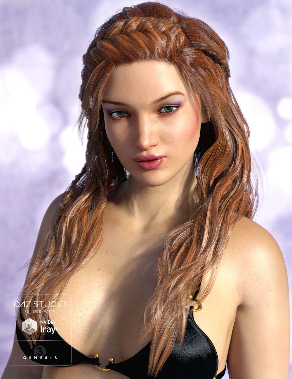 Sienna Hair for Genesis 3 Female(s) and Genesis 2 Female(s) by: AprilYSH, 3D Models by Daz 3D