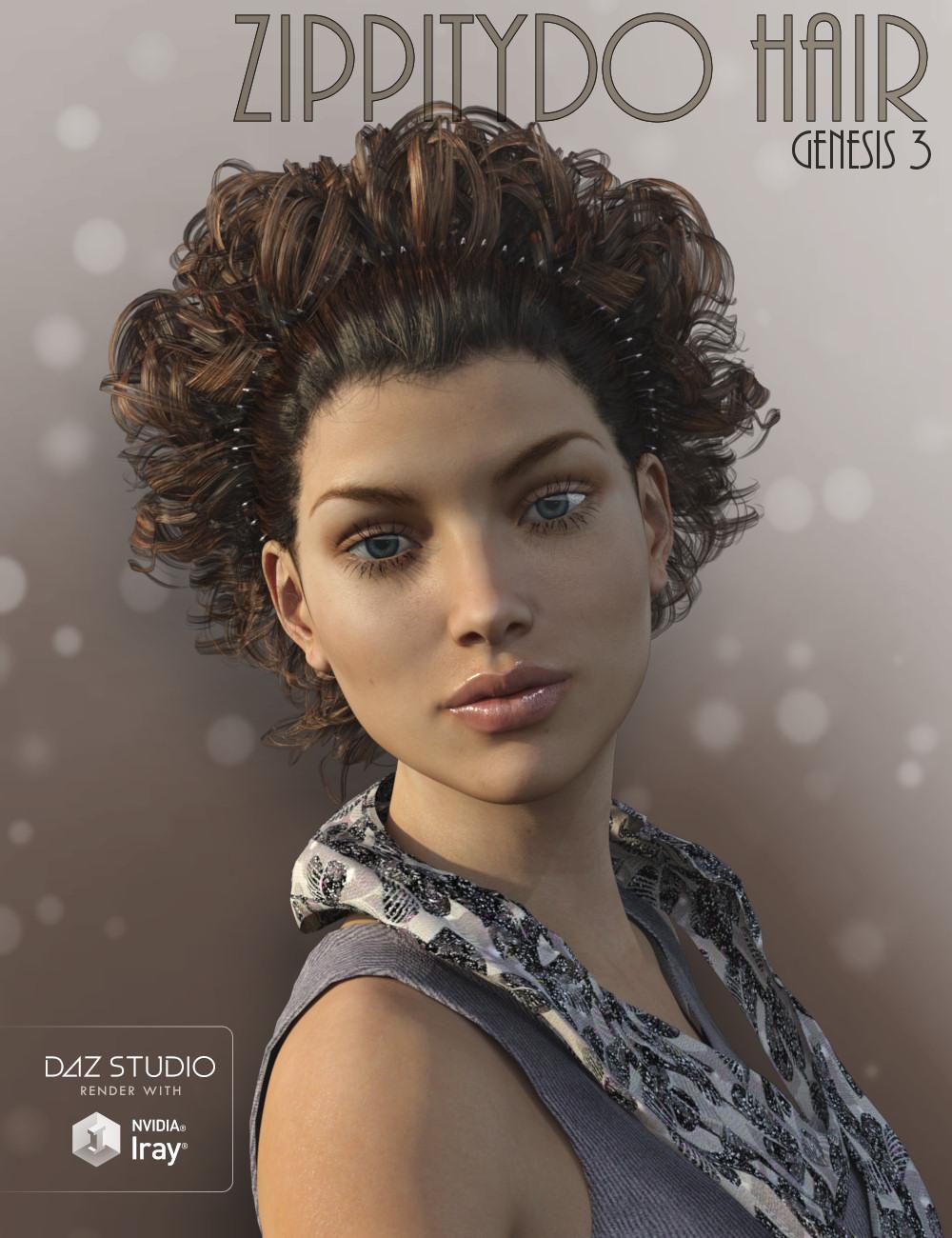 ZippityDo Hair by: goldtassel, 3D Models by Daz 3D